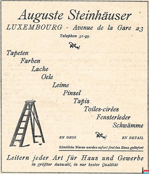 Auguste steinh user luxembourg - Magasin avenue de la gare luxembourg ...