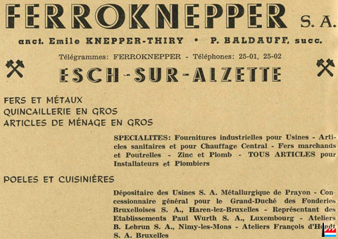 Ferroknepper buderus s a knepper thiry esch alzette - Comptoir des fer et metaux luxembourg ...
