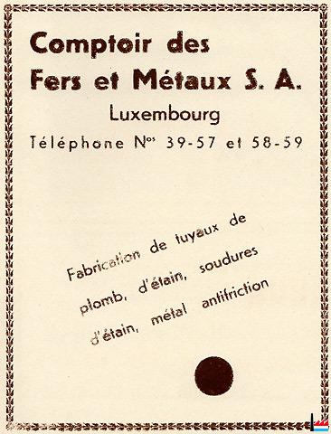 Comptoir des fers et m taux luxembourg - Comptoir des fers et metaux sa luxembourg ...